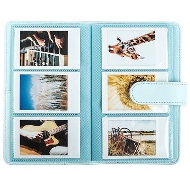 Fujifilm instax Laporta mini Film Uyumlu Açik Mavi 108'li Dikdörtgen Albüm Renkli
